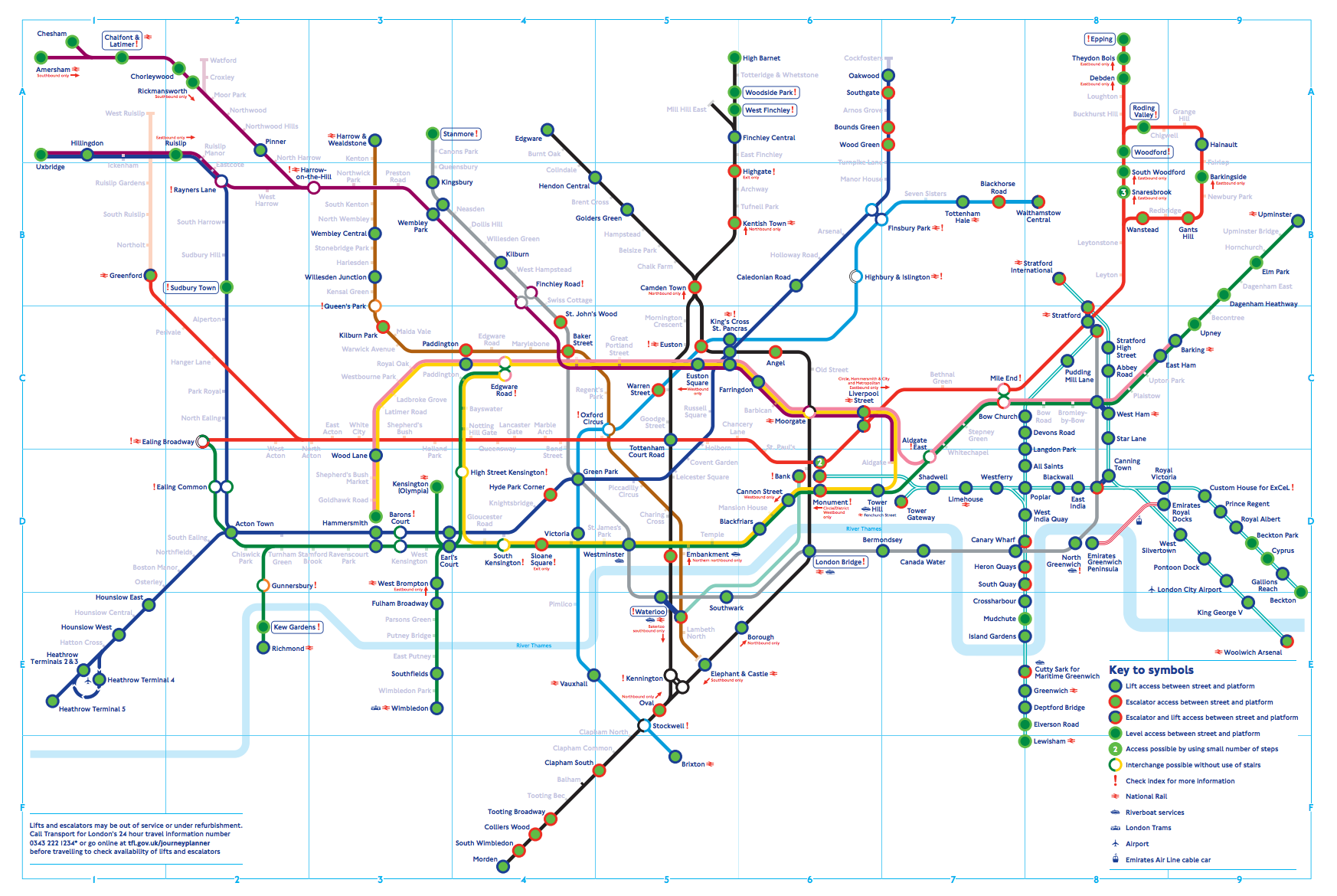 London Free Map.The Step Free Tube Map You Might Not Know About Mapway