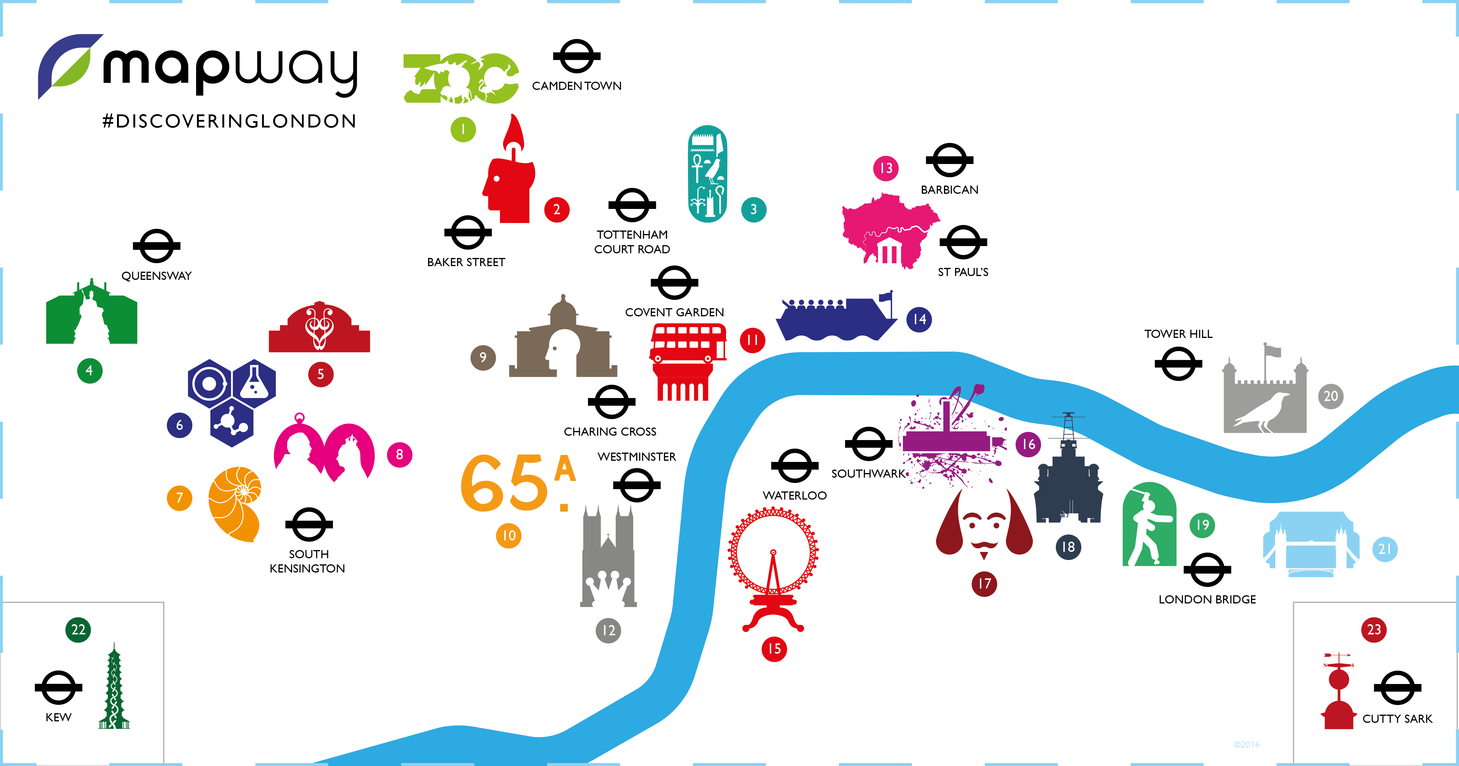 London Pass Attractions Map.Tube Map Guide To The Best London Attractions Mapway