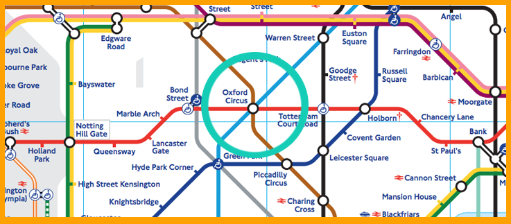 Oxford Street Map How to get to Oxford Circus: Tube and Bus Directions | Mapway Oxford Street Map