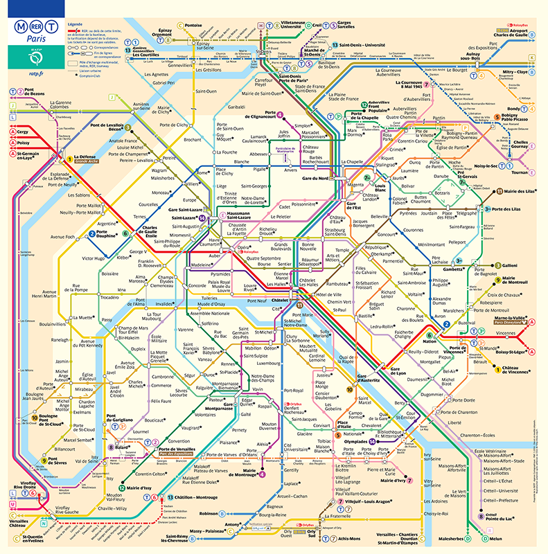 France Subway Map.Which Subway Maps Are Too Big For Human Comprehension Mapway