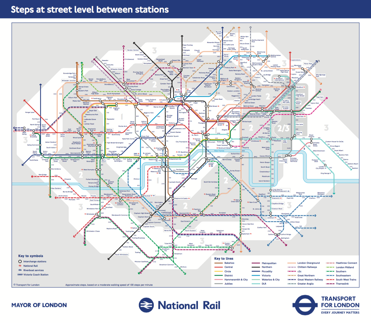 TfL's Walking Tube Map for a Healthier Commute - Mapway