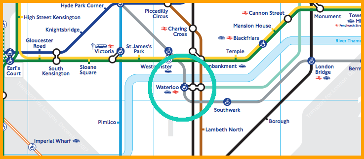 Map Of Waterloo Station How to get to Waterloo: Tube and Bus Directions | Mapway